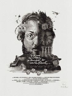 Movie Director Portrait Print, Stanley Kubrick