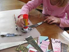 paper beads-- making them