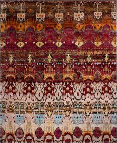 Eros Red Sari Silk Hand Knotted Rug 30037 8x10