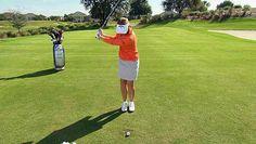 #Golf TIP: Annika Sorenstam shows you the perfect full swing tip.