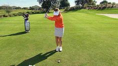 #Golf TIP: Annika Sorenstam shows you the perfect full swing tip.