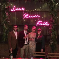 """Wedding Sign Neon Sign """"Love Never Fails"""" by Neon Poodle"""