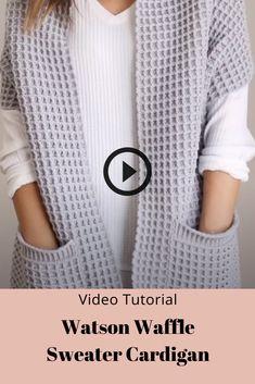 Crochet Baby Shrug, Crochet Cardigan, Crochet Shawl, Easy Crochet, Baby Knitting, Sweater Cardigan, Knit Crochet, Knitting Videos, Crochet Videos