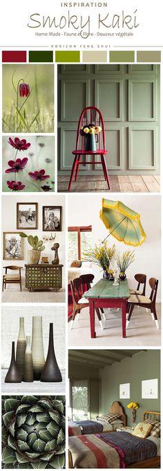 Decoration : smoky kaki et feng shui. Smoky Kaki, Room Colors, House Colors, Feng Shui, Interior Paint Colors, Interior Design, Living Colors, Color Harmony, Colour Schemes