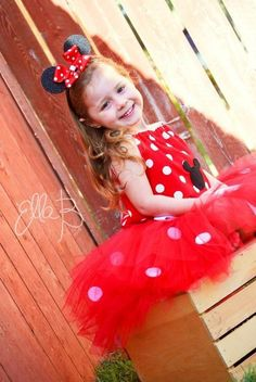 Minnie Mouse inspired childrens tutu costume