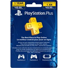 ps plus member ship 12 months   PlayStation Plus 12 Month Membership - Electronic Code