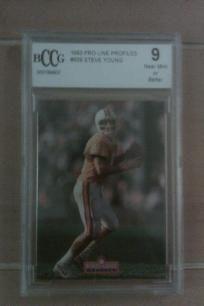 Steve Young NFL San Fransisco 49ers/Tampa Bay Bucs 1993 Pro Line Profiles Card. Graded 9 BCCG Card. *Free Shipping* http://yardsellr.com/yardsale/Erik-Marx-416944