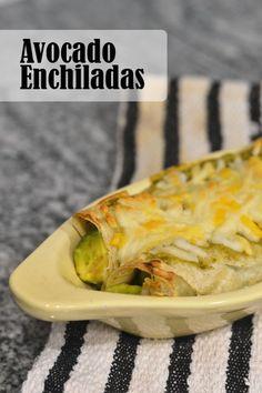 Avocado Enchiladas - Supper for a Steal – ENJI Daily #vegetarian #glutenfree