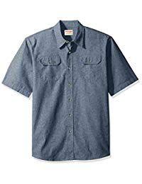 Wrangler Mens Short Sleeve Classic Twill Shirt Button-Down Shirt Twill Shirt, Denim Jacket Men, Swim Shorts, Fashion Wear, Button Down Shirt, Men Casual, Man Shop, Fashion Stores, Accessories Store