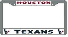 Houston Texans Chrome License Plate Frame