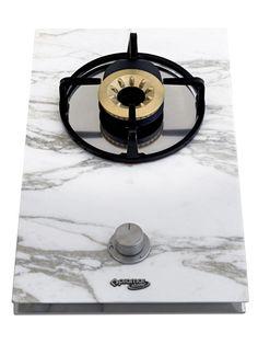 Pramar Stone Calacatta Marble Domino Hob.