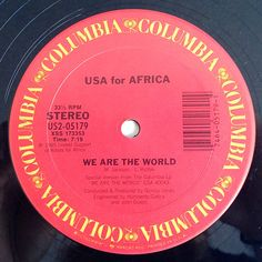 USA For Africa We Are The World Vinyl Record 12' by ThisVinylLife