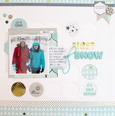First Snow layout created from some products by Chic Tags - Scrapbook.com