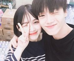 Images and videos of ulzzang couple Relationship Goals Pictures, Couple Relationship, Couples Images, Couples In Love, Cute Korean, Korean Girl, Park Seul, Cute Couple Pictures, Couple Photos