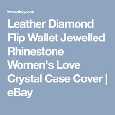 Leather Diamond Flip Wallet Jewelled Rhinestone Women's Love Crystal Case Cover | eBay