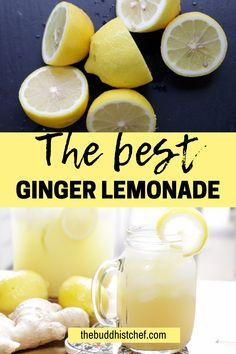 When life gives you lemons, make ginger lemonade.This easy and refreshing recipe is healthy, simple to make and a delicious beverage for kids, and the entire family. Drinking Lemon Juice, Citrus Juice, Warm Lemon Water, Ginger Water, Boil Lemons, Lemon Juice Benefits, Ginger Lemonade, Lemon Uses, Healthy Drinks