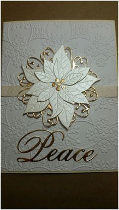 Best 9 Poppy Stamp Blooming Poinsettia Die Memory Box Quinn Flourish Die Card embossed with Cuttlebug Anna Griffin Foulard folder – SkillOfKing. Christmas Cards 2018, Christmas Card Crafts, Homemade Christmas Cards, Xmas Cards, Homemade Cards, Christmas Movies, Holiday Cards, Poinsettia Cards, Christmas Poinsettia