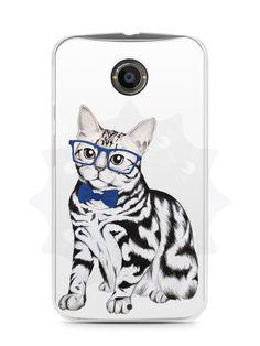 Capa Capinha Moto X2 Gato Estiloso - SmartCases - Acessórios para celulares e tablets :)