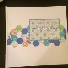More hexagon fun from creative memories. Place and punch used. paper used is Strut Your Stuff.