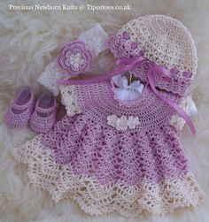 Newborn Dress Set (pretty, but no pattern).