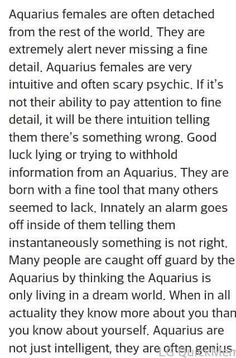 Aquarius ♒ woman More << I don't know about being intuitive with little details in my academics, but I do find the fine details in people's personalities. Astrology Aquarius, Aquarius Traits, Aquarius Love, Aquarius Quotes, Age Of Aquarius, Zodiac Signs Aquarius, My Zodiac Sign, Moon In Aquarius Woman, Aquarius Personality