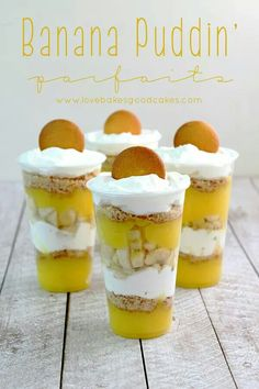 Banana puddin parfait