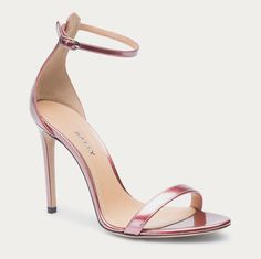 An elegant flat shoe crafted in calf leather with a babouche heel. Shoe Crafts, Nude Heels, Flats, Sandals, Calf Leather, Calves, Slippers, Elegant, Rose