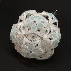 Beading Pattern Tutorial Christmas Ornament Dodecahedron