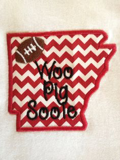 Appliqué Tee State of Arkansas and Woo Pig Sooie