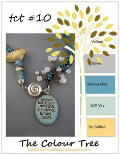 addINKtive designs: The Colour Tree #10 - Vellum, Silver, Marina Mist, Soft Sky and So Saffron