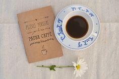"""Taccuino fatto a mano """"Pausa caffè"""""""