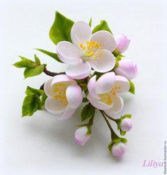 Polymer Clay Flowers, Polymer Clay Art, Polymer Clay Jewelry, Handmade Flowers, Diy Flowers, Paper Flowers, Cold Porcelain Flowers, Ceramic Flowers, Fondant Flowers