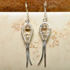 """NATURAL SMOKY QUARTZ GEMSTONE 925 STERLING SILVER EARRINGS JEWELRY 2"""""""
