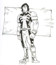 Original Comic Art titled Thunderbird by Andy Macdonald, located in I am's X-Men Comic Art Gallery Andy Macdonald, Enemies, X Men, Comic Art, Art Gallery, Universe, Marvel, Comics, Room