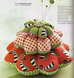 layered flower pincushion