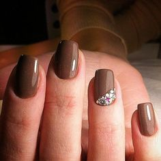 Beautiful nails 2016, Brown nails, Cool nails, Evening nails, Everyday nails…