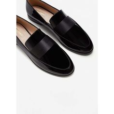 Patent Loafers (4080 DZD) ❤ liked on Polyvore featuring shoes, loafers, decorating shoes, patent shoes, patent leather loafers, mango loafers and loafer shoes