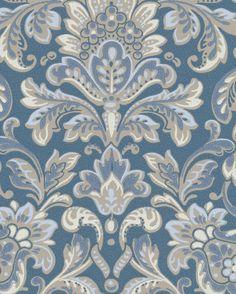 Tapet Foglavik 4 från Boråstapeter Southeast Asian Arts, Scandi Style, Powder Rooms, Home Wallpaper, William Morris, Damask, Printing On Fabric, Palette, Wallpapers