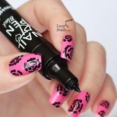Pink Black Nail Designs Cute Easy Nail Designs Love For Nail