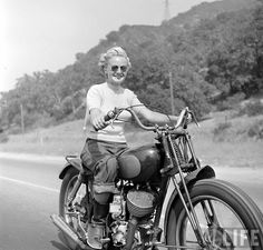 1949 bike gal. Someone's mom was a bad ass girl. ;)