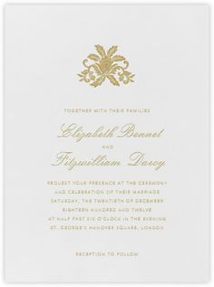 Formal Wedding Invitation // Oscar De La Renta For Paperless Post