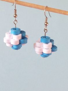 Quilled Paper Earrings from Yesterday's news - today's accessories Paper Quilling Earrings, Quilling Work, Paper Quilling Designs, Quilling Paper Craft, Quilling Patterns, Paper Jewelry, Paper Beads, Diy Jewelry, Jewelry Design