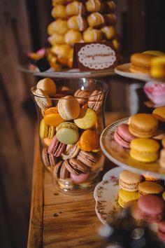 French Macarons dessert bar wedding