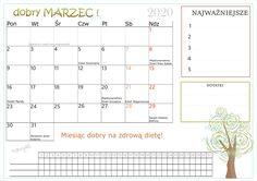 Dobry rok-marzec! Kalendarz do druku. Map, How To Plan, Maps