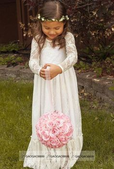 f9b3311d06 2016 Cheap Long Sleeve Lace Flower Girl Dresses Jewel White A Line Floor  Length Baby Formal Occasion Skirt First Communion Bridal Gowns Cute Flower  Girl ...