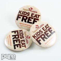 Food and Drink Button Samples | Restaurant and Food Service Buttons