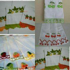 Meyveli dantel havlu kenarı