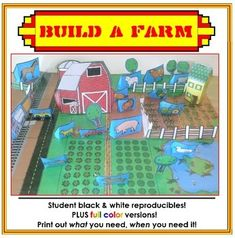 Build A Farm - Hands-on Map Making Activity Cooperative Learning Activities, Math Activities, Teaching Resources, Circle Math, Literature Circles, Study History, Thematic Units, Unit Plan, Project Based Learning