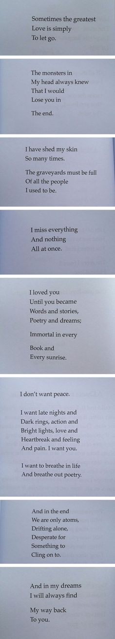 From A Poetry Book Called Love And Space Dust