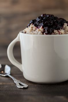 Steel Cut Oats with Roasted Berries | Naturally Ella